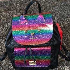 Betsey Johnson Rainbow Kitty Cat Backpack!